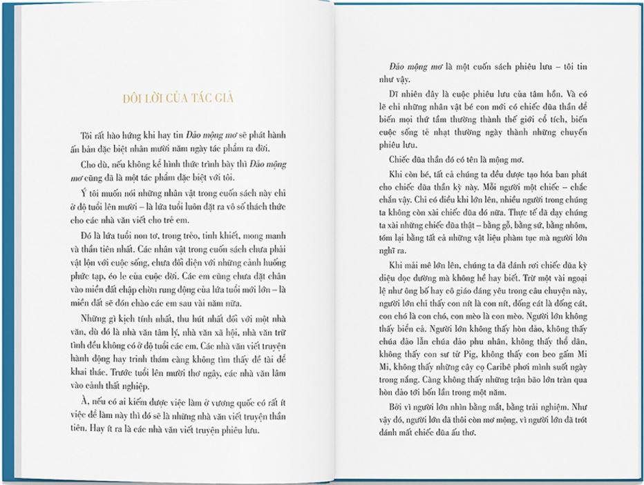 Đôi lời của tác giả - Đảo mộng mơ - Nguyễn Nhật Ánh