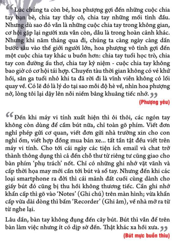 Phượng yêu - Bút mực buồn thiu - Thương nhớ trà long - Nguyễn Nhật Ánh