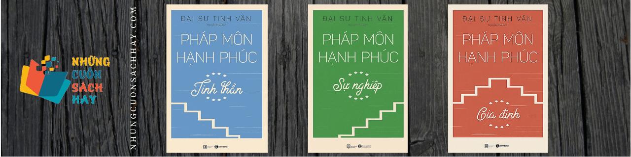 Review sách Bộ 3 Cuốn Pháp Môn Hạnh Phúc - Đại sư Tinh Vân
