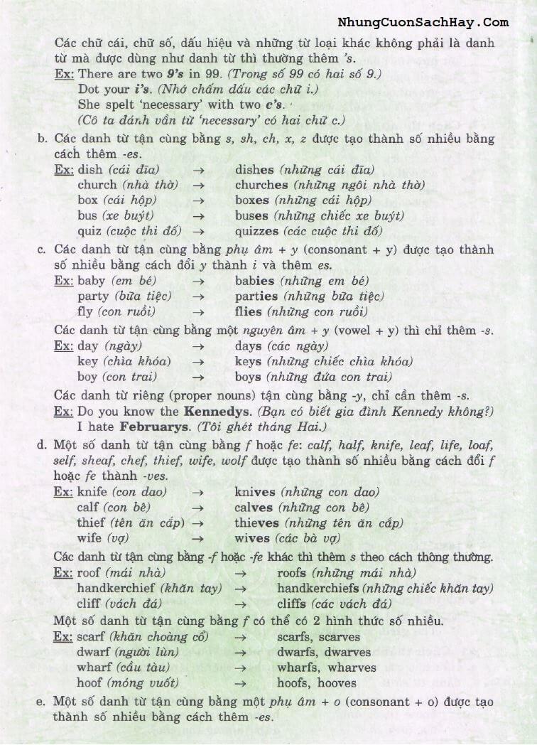 Chương 1 Từ Loại 4 - Giải thích Ngữ pháp tiếng Anh - Mai Lan Hương và Hà Thanh Uyên