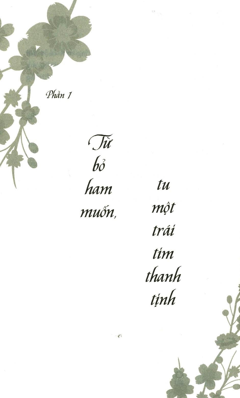 Từ bỏ ham muốn, tu một trái tim thanh tịnh - Nóng Giận Là Bản Năng, Tĩnh Lặng Là Bản Lĩnh - Tống Mặc