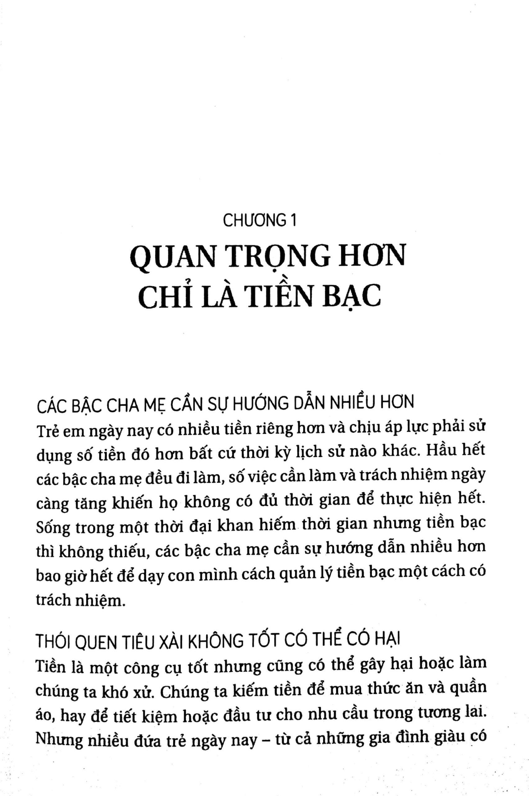 chương 1 - quan trọng hơn chỉ là tiền bạc 1 - Dạy Con Dùng Tiền - Adam Khoo và Keon Chee