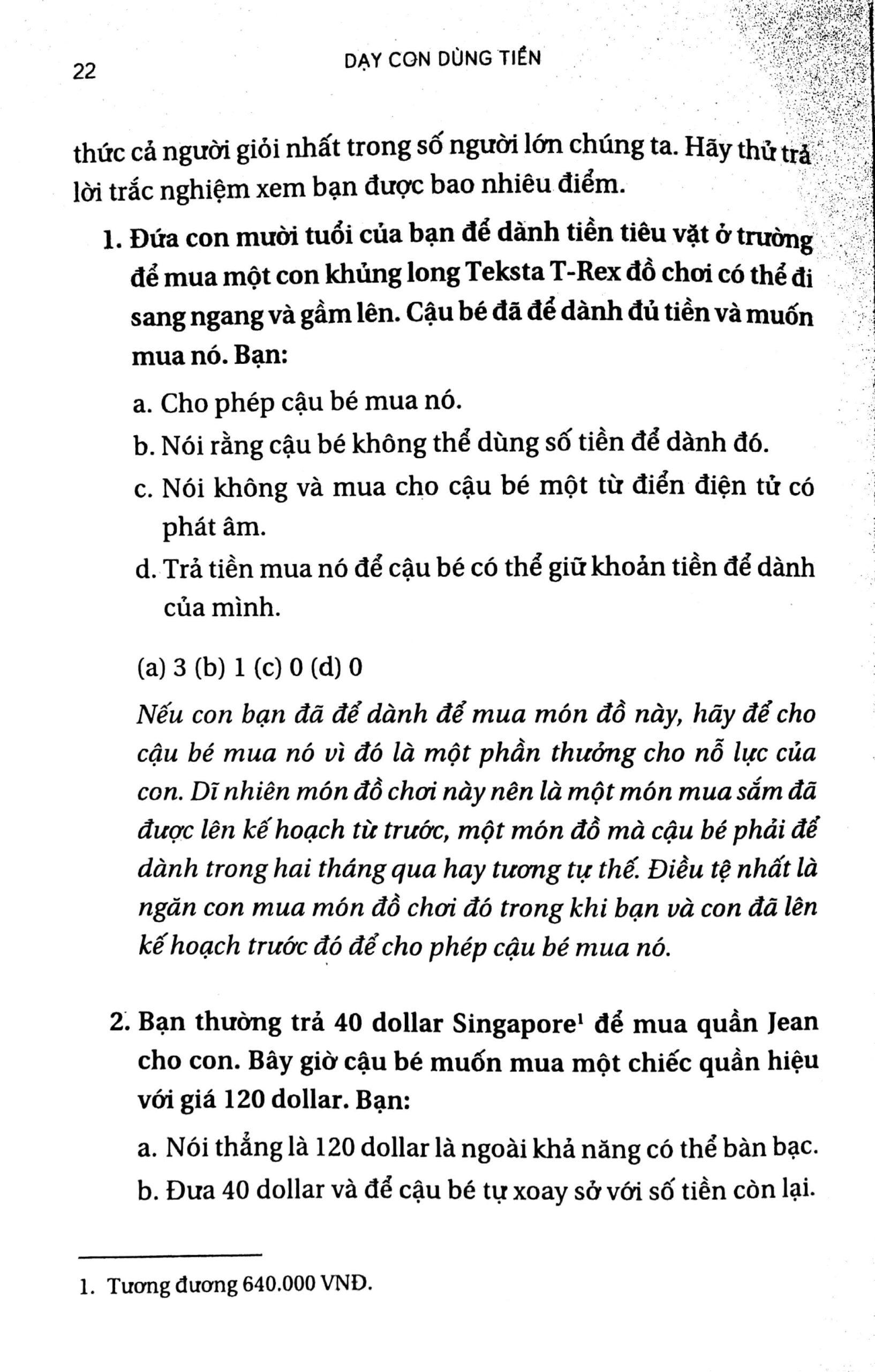 chương 1 - quan trọng hơn chỉ là tiền bạc 6 - Dạy Con Dùng Tiền - Adam Khoo và Keon Chee