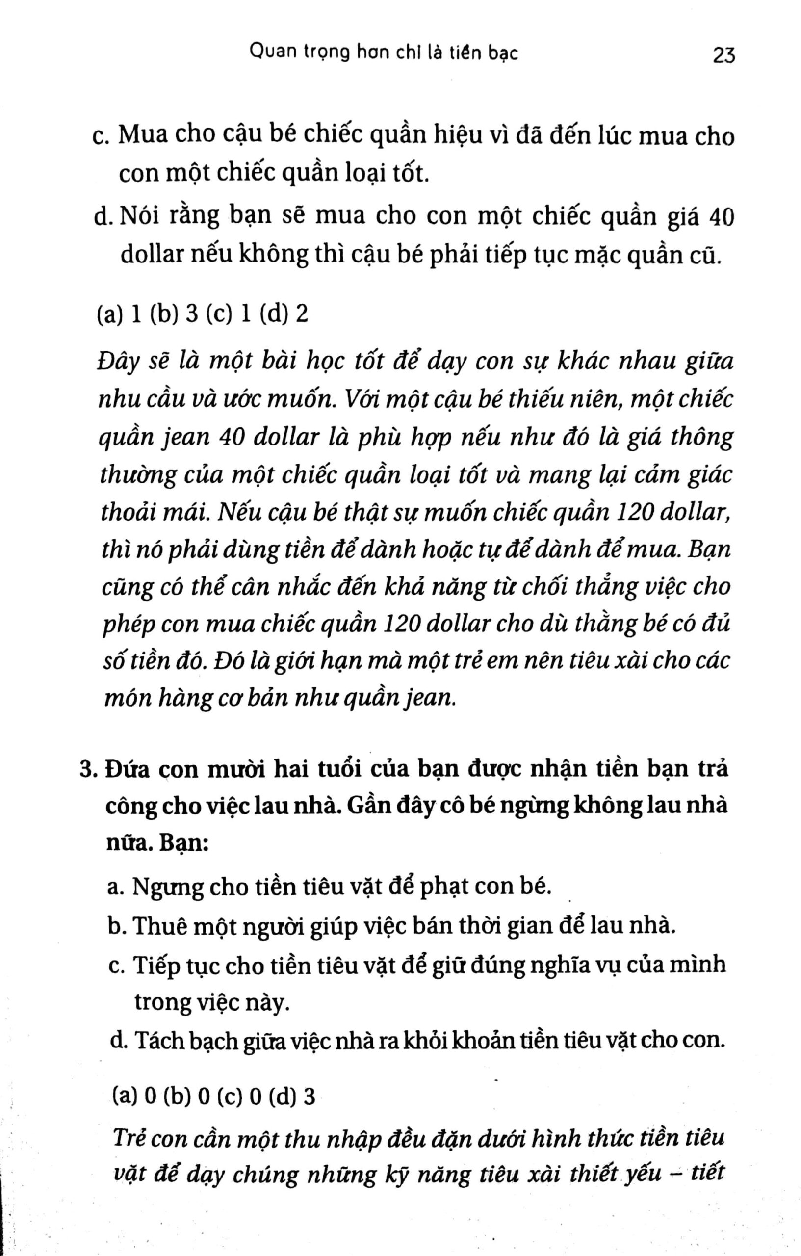 chương 1 - quan trọng hơn chỉ là tiền bạc 7 - Dạy Con Dùng Tiền - Adam Khoo và Keon Chee