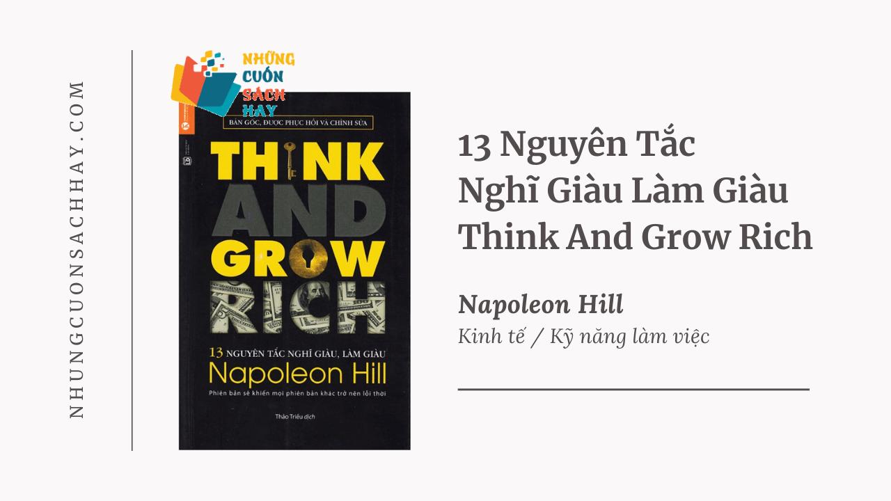 Trích dẫn sách 13 Nguyên Tắc Nghĩ Giàu Làm Giàu - Think And Grow Rich - Napoleon Hill
