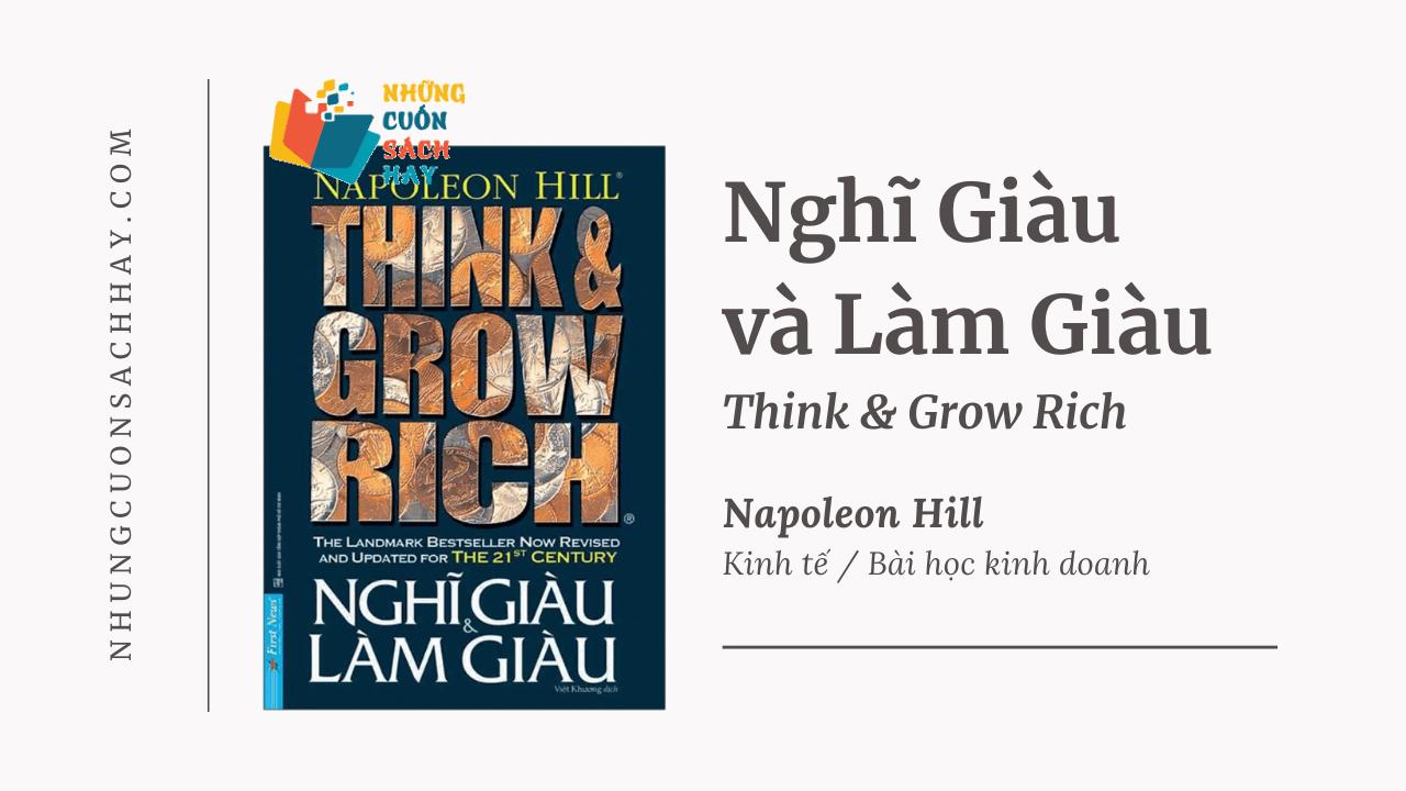 Trích dẫn sách Nghĩ Giàu Và Làm Giàu - Think And Grow Rich - Napoleon Hill
