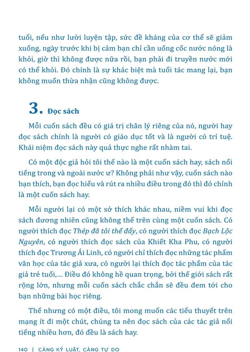 Trích đoạn sách Càng Kỷ Luật, Càng Tự Do 4 - Ca Tây