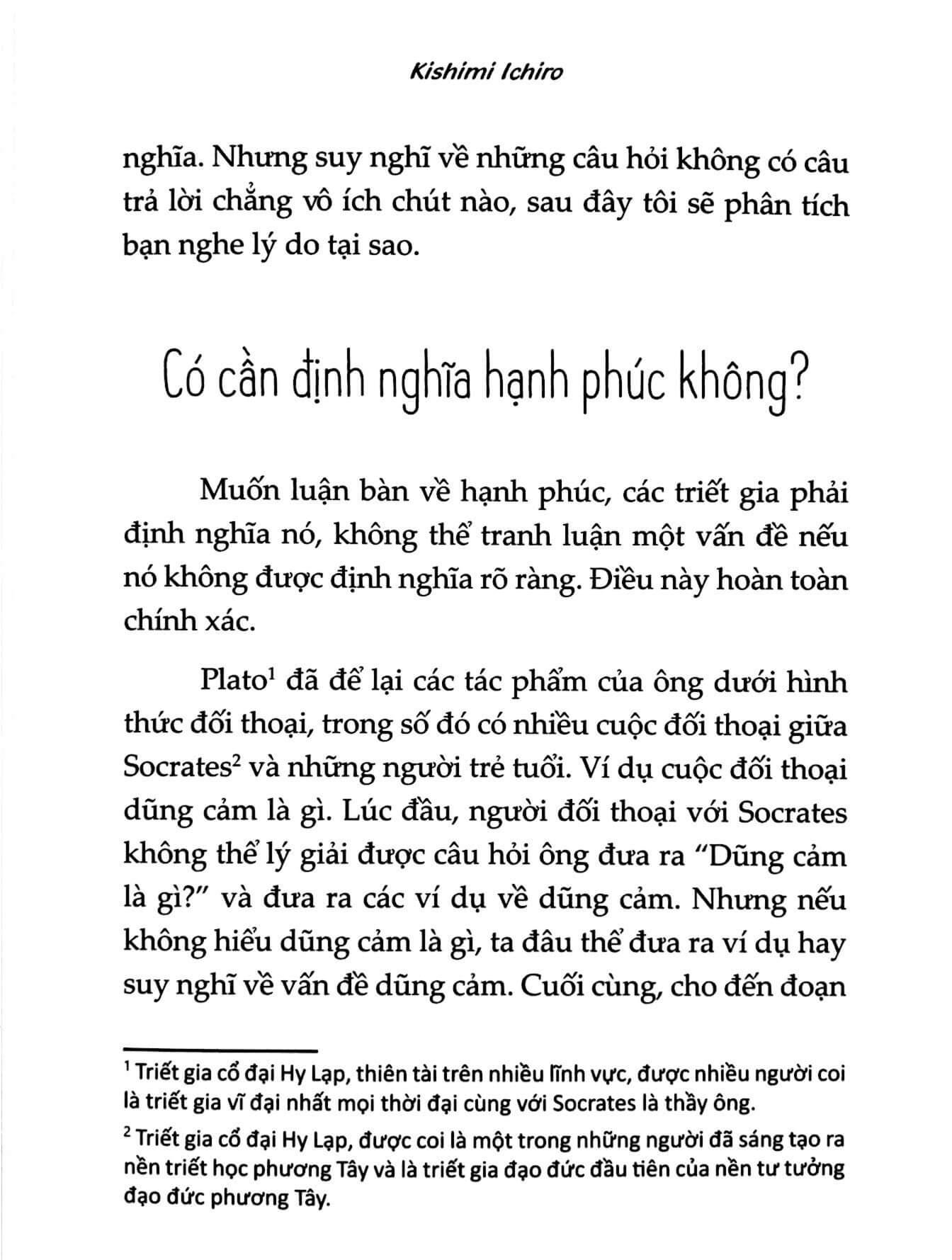 giờ chúng ta nói về hạnh phúc nhé 3 - Hãy Nói Về Hạnh Phúc, Đừng Nói Về Thành Công - Kishimi Ichiro